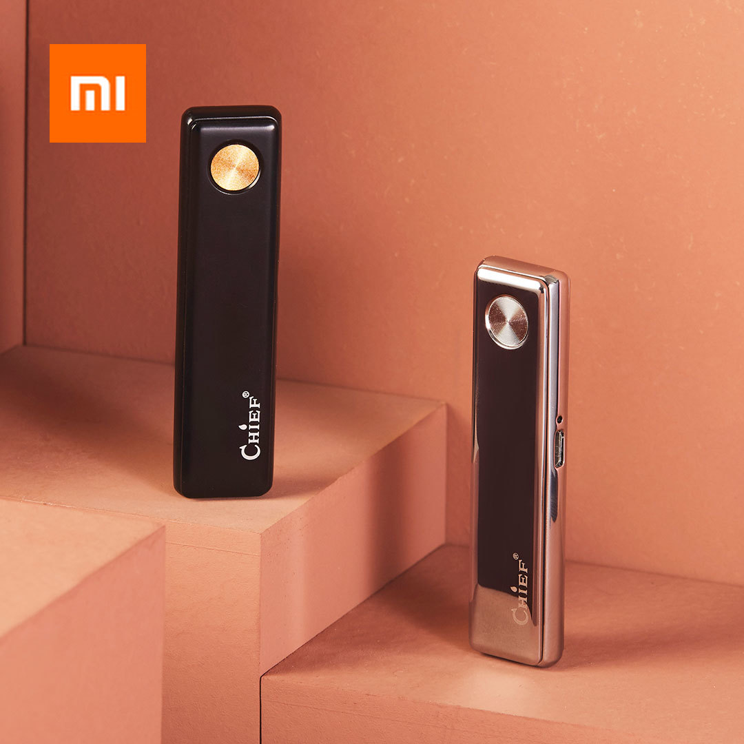 Xiaomi CHIEF Metal Electronic Cigarette Lighter USB Rechargeable Windproof Cigarette Gadgets Men Secure Flameless Smokeless