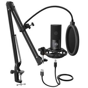 FIFINE Computer-Microphone-Kit Arm-Stand Studio-Condenser Youtube Shock-Mount Voice-Overs-T669