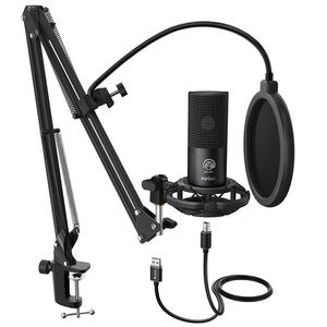 Image 1 - FIFINE Studio Condenser USB Computer Microphone Kit With Adjustable Scissor Arm Stand Shock Mount for YouTube Voice Overs T669