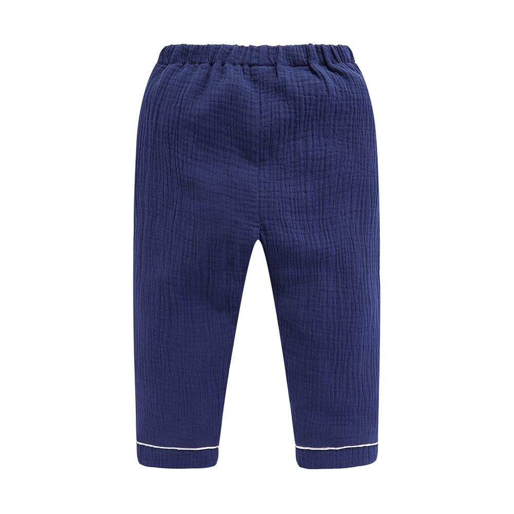 Mudkingdom Boys Pajamas Set Plain Collared Long Sleeve Spring Autumn Kids Sleepwear Clothes Set 4