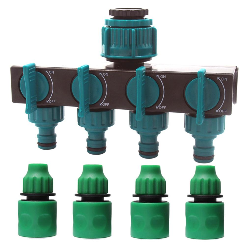 Kunststoff Vier-Weg, Wasser Separator Für Garten Wasser Rohr Wasserhahn Joint Wasserhahn Verteiler Fitting Für Tropf Bewässerung