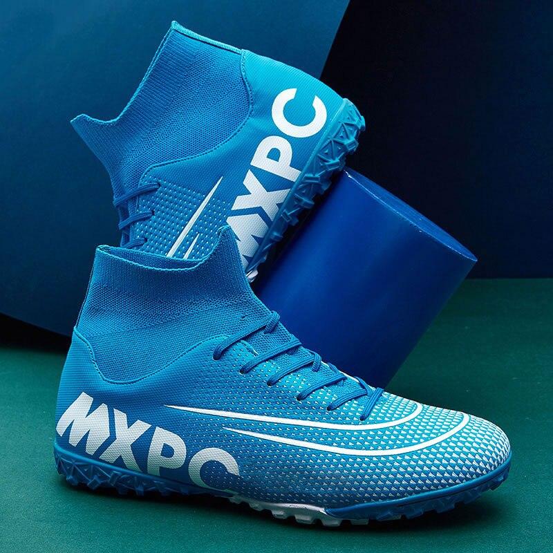 Men SportsTurf Soccer Shoes Kids Soccer Cleats Training Teens Indoor Football Boots Breathable Women Futsal Sneakers Size 35-45