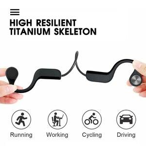 Image 2 - Auricolare Bluetooth 5.0 a conduzione ossea cuffie Wireless a orecchio aperto con microfono a riduzione del rumore auricolare IPX5 per la corsa in bicicletta