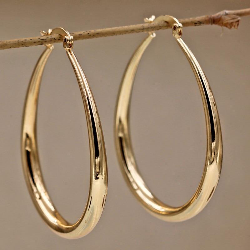 1 Paire Belle ARGENT 925 Grand Cercle Cerceau Boucles D/'oreilles femme fête de mariage oreille clip
