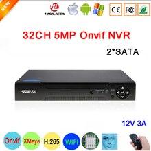 H 265 Hi3536C XMeye Face Detection 8CH 4K 8MP 32CH 5MP Surveillance Video Recorder 32CH 32