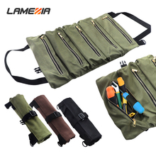 LAMEZIA Portable Oxford Cloth Tool Kit Thickened Canvas Bag Large Capacity Multifunctional Roll Wear-resistant Storage Package pegasi waterproof wearable oxford blue portable handbags mechanic tool tools bag durable wear resistant high reliability