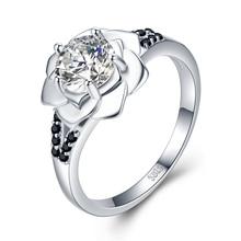 SODROV 925 пробы Серебряное кольцо для женщин Bague цветок трендовые обручальные кольца для женщин ювелирные изделия из стерлингового серебра G073