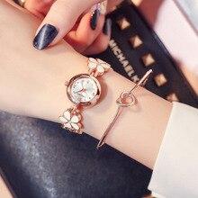 Rose Gold Women Bracelet Watches Fashion Luxury Quartz-Watches Flower Band Ladies Casual Dress Sport Watch Clock Dropshiping цена в Москве и Питере