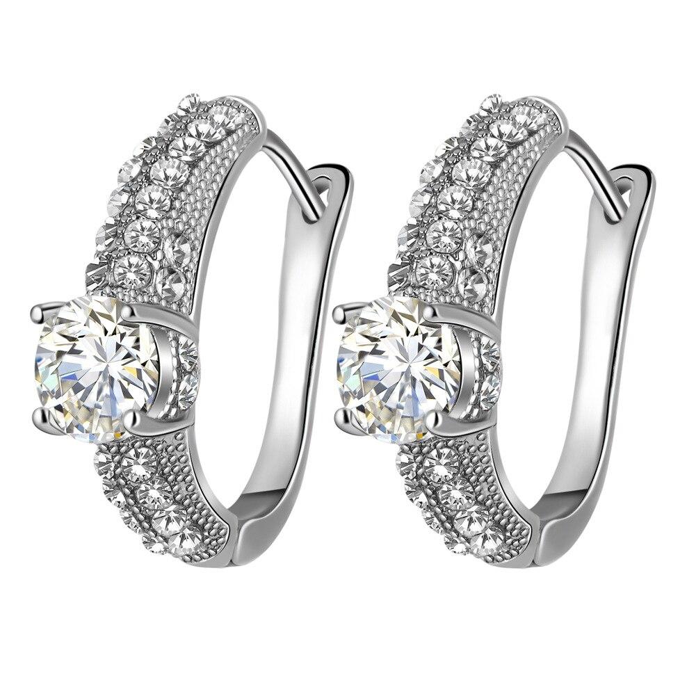 LE401 eight hearts eight arrows Zircon Earrings like water age Earrings