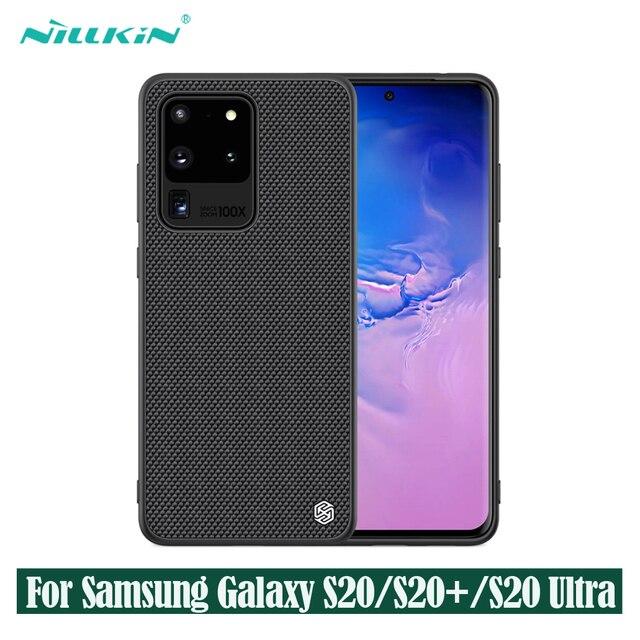 עבור סמסונג גלקסי Samsung Galaxy S20 Ultra S20+ Plus 5G בתוספת מקרה NILLKIN מרקם ניילון סיבי מקרה החלקה דק וקל כיסוי אחורי עבור Samsung S20