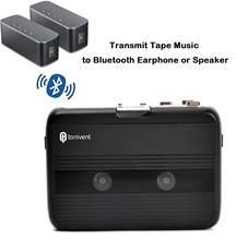 Leitor de cassetes estereofônico de walkman do transmissor de bluetooth com rádio de fm