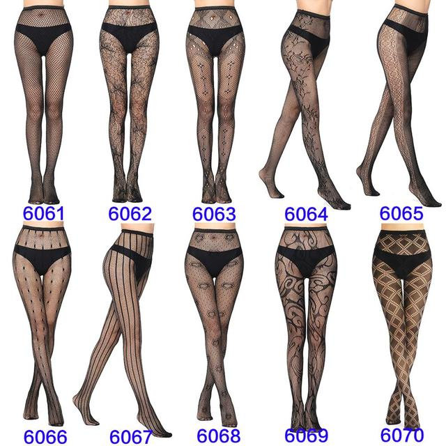 Sexy Fashion Ultrathin Women Pantyhose Hollow Solid Fishnet Tights Clothes For Women Black Tights Lace Sexy Lingerie 2