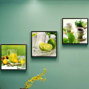 Diamond Painting Full Triptych Diamond Round 5d Diamond Painting Modern Restaurant Fruit Room Decorations for Home Accessories
