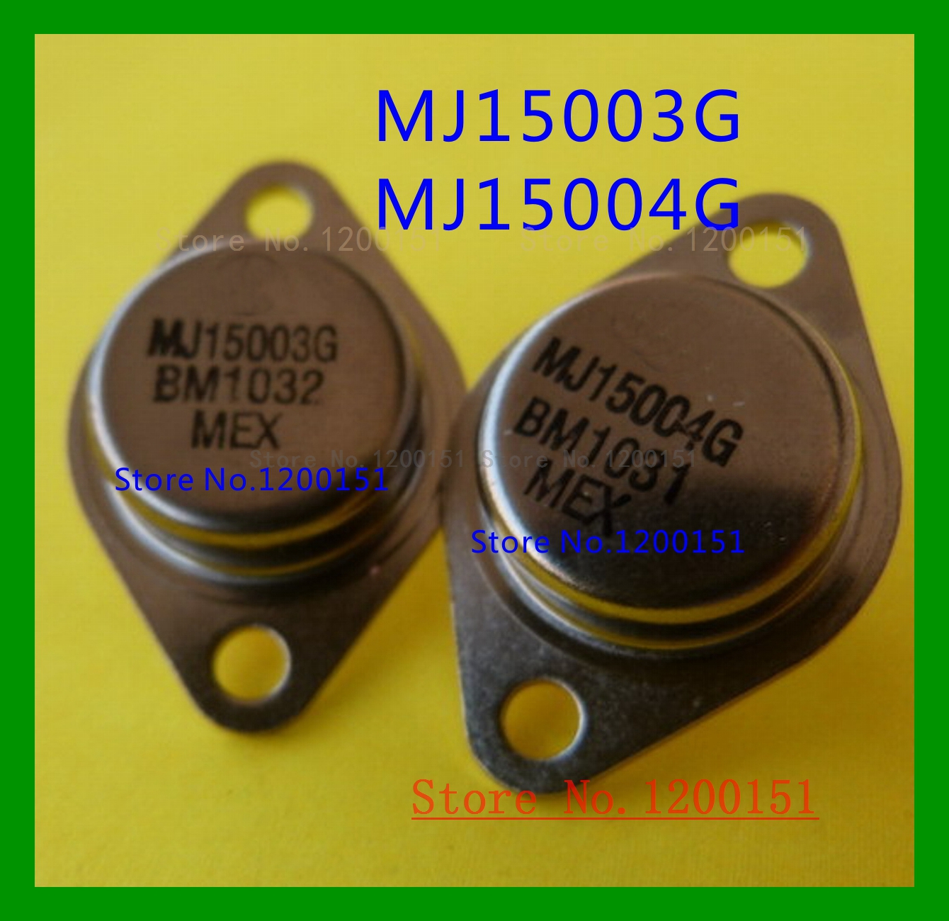 4pcs/lot=2PAIR MJ15003G MJ15004G MJ15003 MJ15004 TO-3 High Power Audio Power Amplifier Transistor