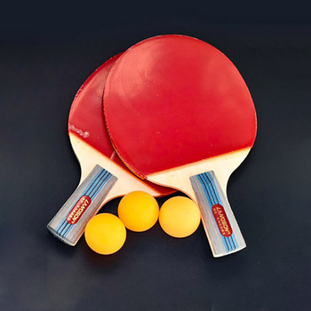 Landson 2pcs/Lot Table Tennis Bat Racket Double Face Pimples In Long/ Short Handle Ping Pong Paddle Racket Set with Bag +3 Balls 2pcs ping pong racket table tennis blade long short handle pingpong bat set with 3 balls double face pimples in rubber blades