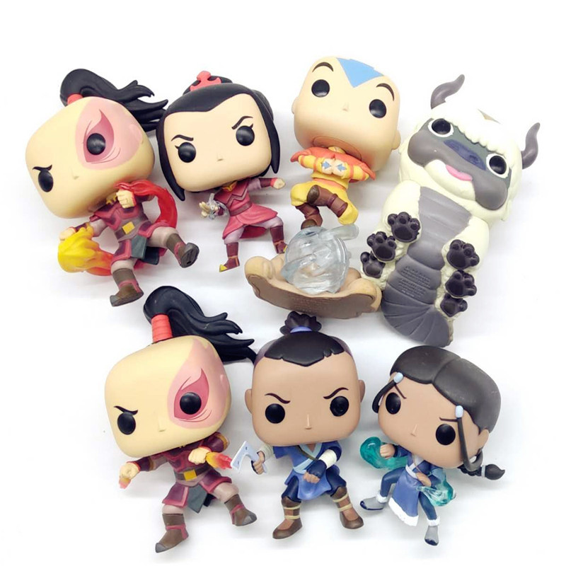 model toy Avatar last airbenders Luminous AZULA /Aang/ KATARA/ ZUKO/APPA/ SOKKAZUKO Vinyl Action Figures Collectible Model Toy