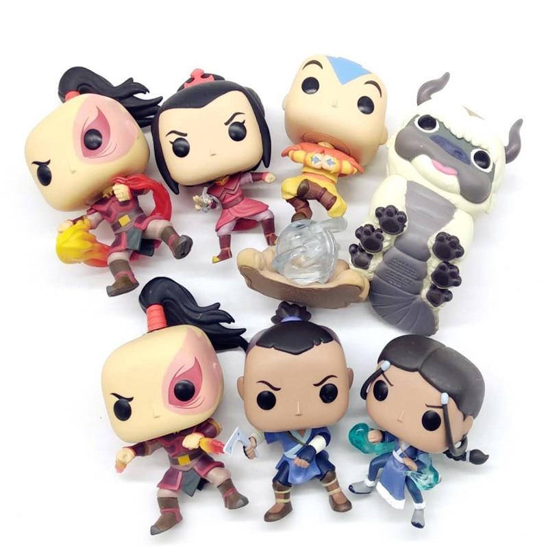 Model Toy Avatar Last Airbenders Luminous AZULA /Aang/ KATARA/ ZUKO/APPA/ SOKKAZUKO Vinyl Action Figures Collectible Model Toy