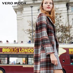 Image 2 - معطف نسائي من Vero Moda بطية صدر منقوشة وطويل من الصوف المستقيم