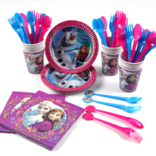 48pcs/lot Frozen theme  Childrens birthday party supplies decoration set baby shower products