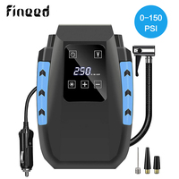 Fineed Car Compressor Air pump 12V portable tire inflator 150PSI 35L/Min touch screen auto tire pump with LED for Automobile