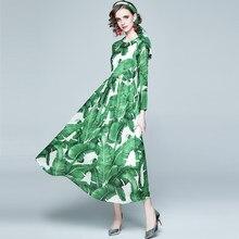 ZUOMAN Women Spring Autumn Elegant Chiffon Dress Festa High Quality Long Maxi Party Robe Femme Vintage Designer Green Vestidos