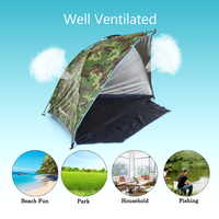 TOMSHOO Outdoor Camping Tent Travel Sports Sunshade Tent for Fishing Picnic Beach Park Camping Hiking withCarry Bag Storage Tool