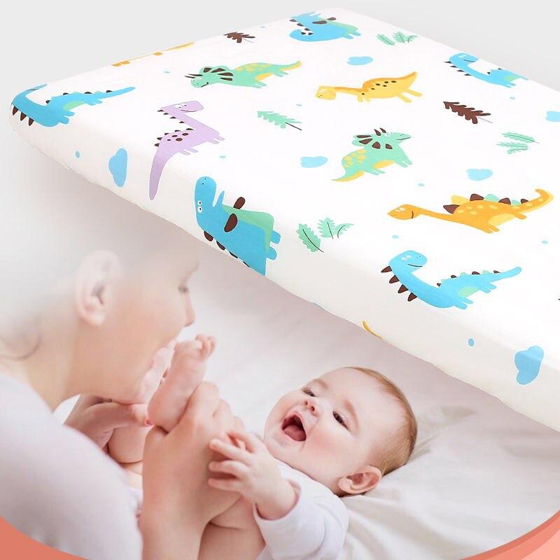 Newborn Baby mattress cover Fitted Sheet 70x140 Child Bedspread Bed Linen Set Boys girls Cotton Baby Crib Bedding Set