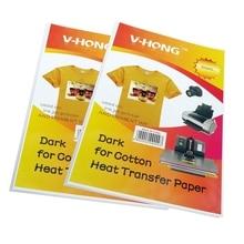 8,3x11,7 дюймов футболка Керамика не Чистый хлопок сублимационная бумага V-HONG бренд темный и цветной светильник текстиль теплопередача бумага