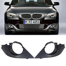 цена на Pair For 2003-2009 BMW E60 E61 M Sport Fog Light Bumper Grille Cover Insert Trim
