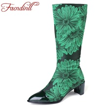 FACNDINLL big size 34-43 china style women shoes sexy high heels pointed toe woman 2019 new autumn winter knee high boots female facndinll women autumn winter boots sexy high heels platform shoes woman knee high boots black brown long boots big size 34 43