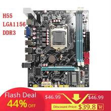 Placa base H55 nueva LGA1156 DDR3 compatible con placa base I3 I5 I7 CPU PCI-Express puertos USB placa principal para la computadora(China)