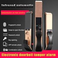 Fechadura automática de impressão digital fechadura da porta de segurança em casa inteligente fechadura da porta eletrônica impressão digital desbloqueio remoto inteligente
