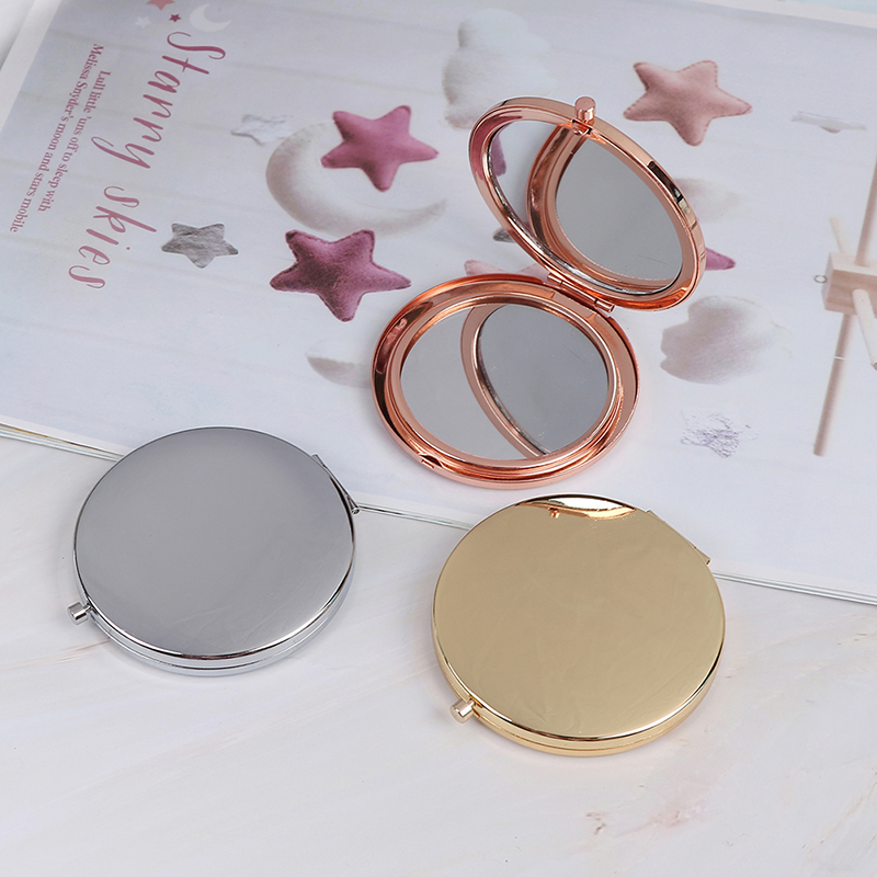 1 PC Portable Folding Mirror Compact Stainless Steel Metal Makeup Cosmetic Pocket Mirror Beauty Accessories
