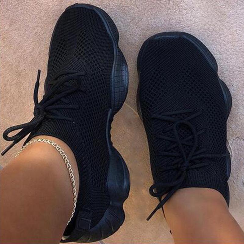 Women Sneakers Mesh Shoes Flats Breathsble Walking Casual Female Comfort Ladies Plus Size Tenis Feminino Gym Shoes Sport