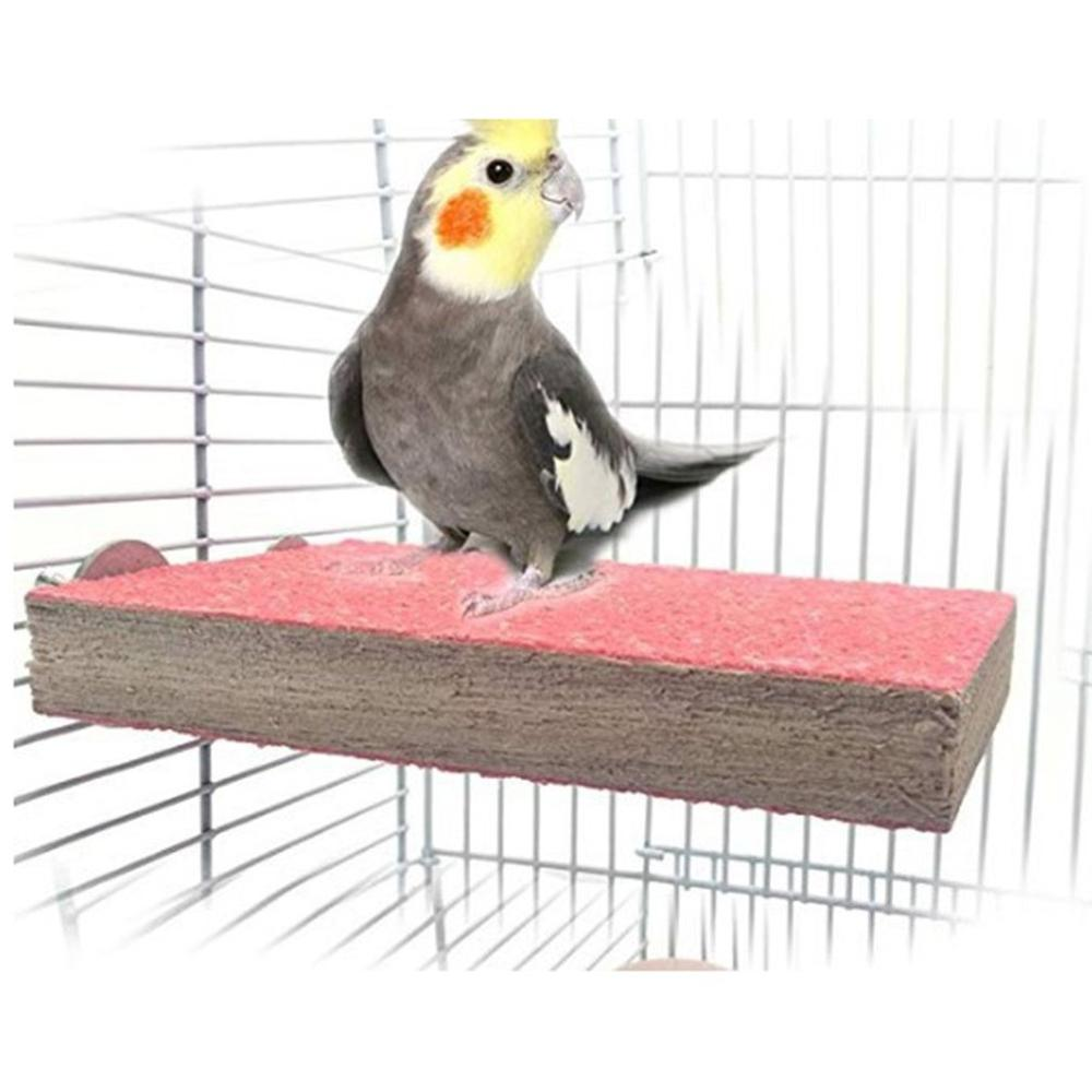 Hot Sale Natural Wood Parrot Bird Cage Perches Stand Platform Pet Parakeet Wooden Budgie Toys Hanging Supplies