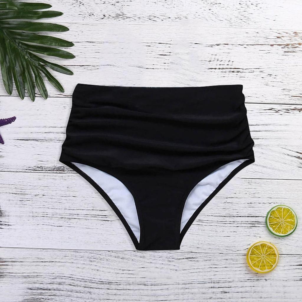 Женские черные брюки, бикини с высокой талией, плавки, шорты, нижний купальный костюм, купальный костюм, женское бикини с высокой талией, тру...