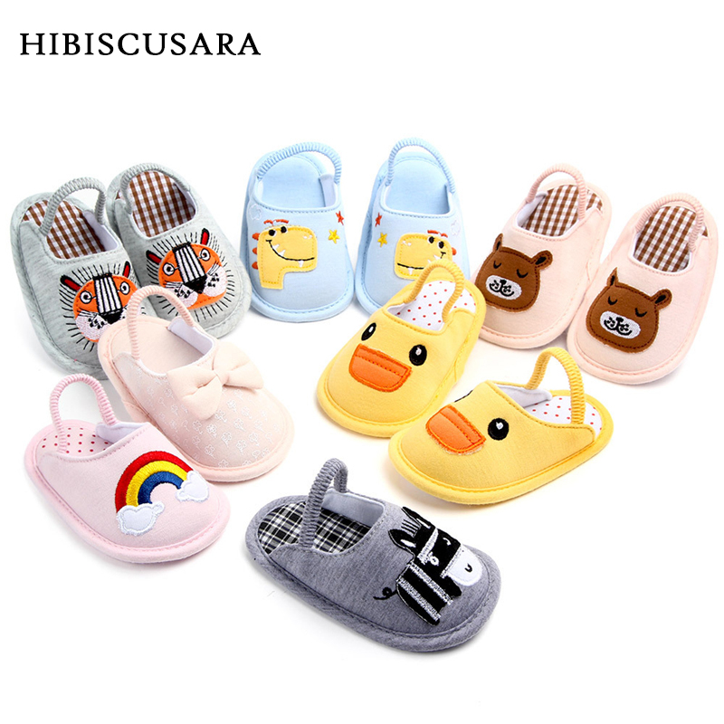 Newborn Baby Indoor Shoes Soft Sole Autumn Winter Slippers Cotton Bebe Animal First Walkers Boys Grils House Shoes