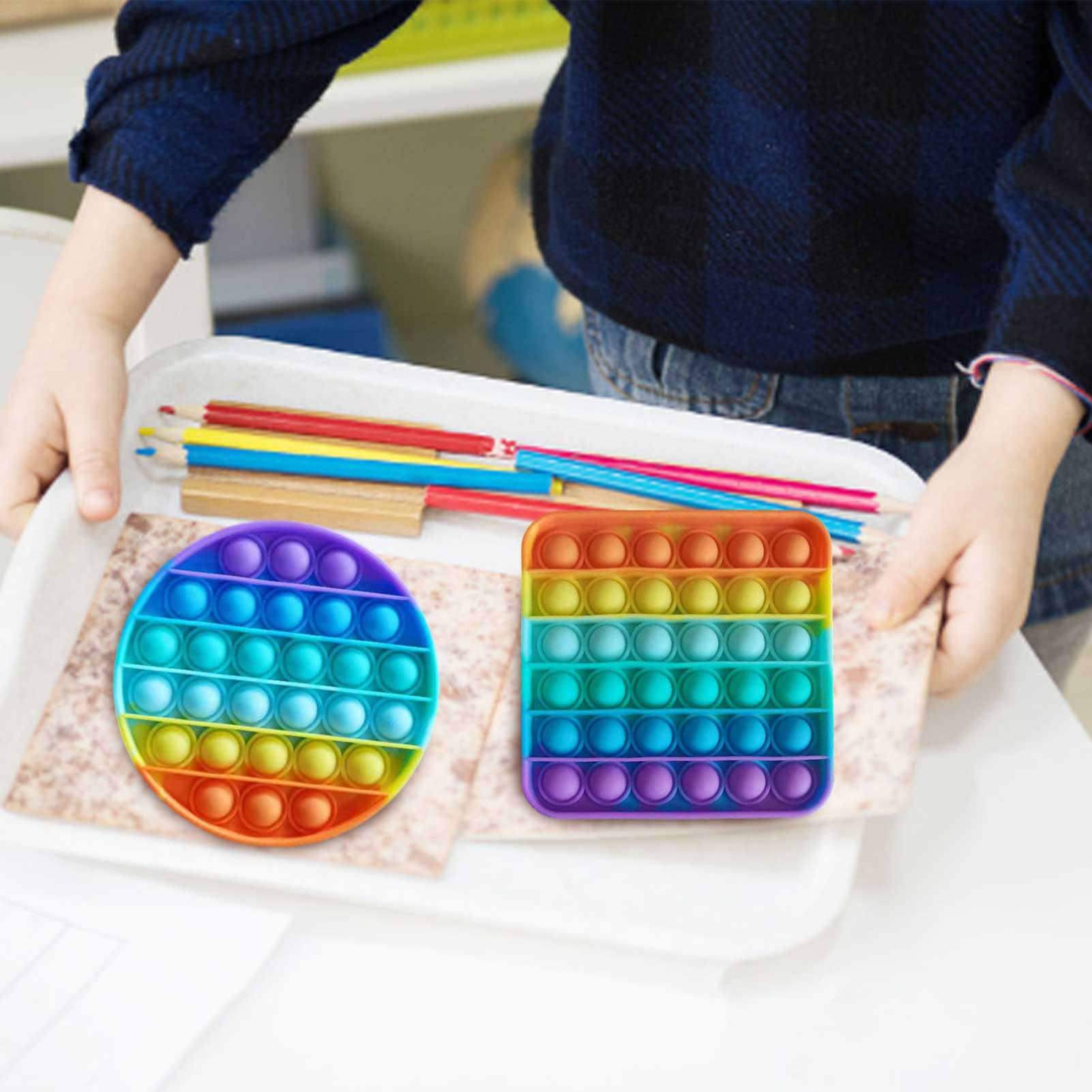 Toys Adult Bubble-Sensory-Toy Fidget-It-Reliver Push-Fidget Needs Anti-Stress Funny Squishy img2