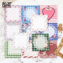 Retro flor carft almofada de memorando papel laço lenço série nota memorando bloco de notas escola material escritório papelaria presente
