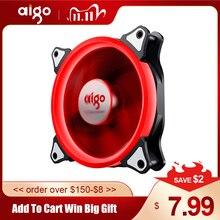 Aigo LED مروحة 140 مللي متر المشجعين كم صامت تحمل 12 فولت 3pin + 4pin حاسوب شخصي مكتبي مروحة تبريد الكمبيوتر برودة CPU مبردات مشعات