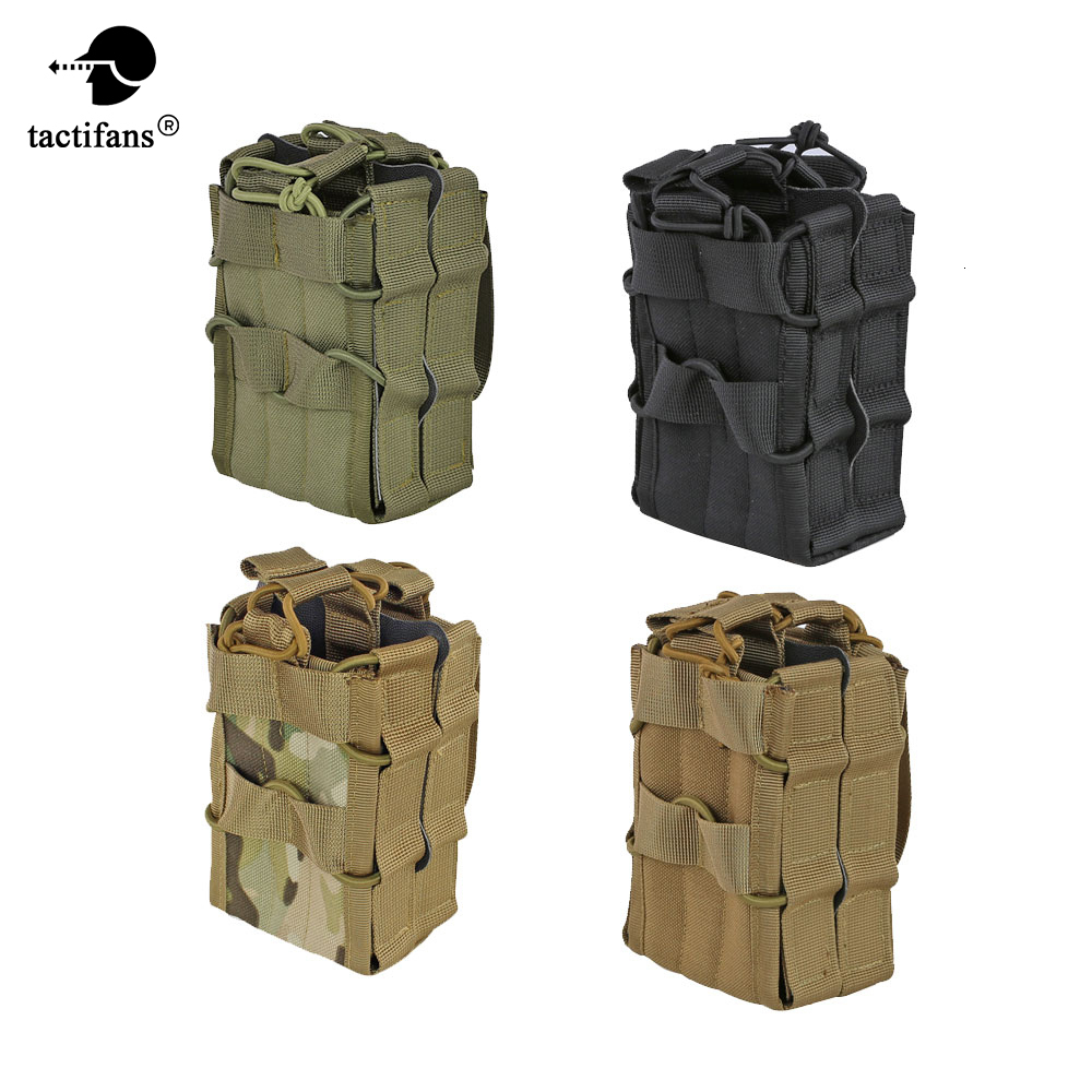 Tactical AK 7.62 <font><b>M4</b></font> 5.56 <font><b>Magazine</b></font> Pouch 1000D Nylon Molle System Double Layer Storage Bag Airsoft Rifle Hunting Accessories image
