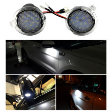 1 Pair LED Side Mirror Puddle Lights for Ford Edge Mondeo Explorer Taurus Rear View F ord ocus F150