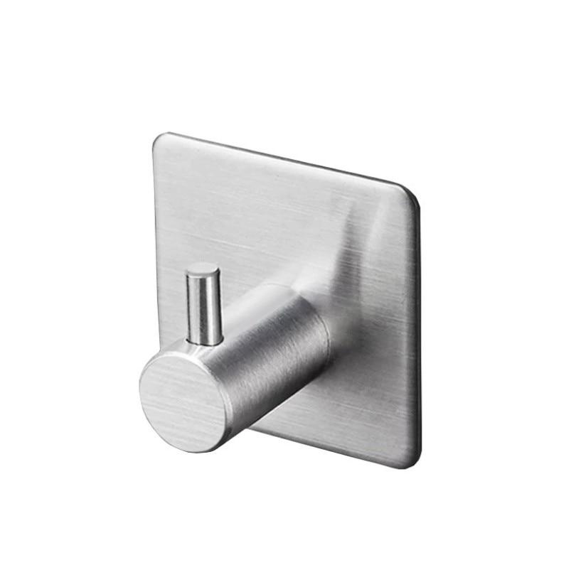 1PC 3M Self Adhesive Stainless Steel Hooks Waterproof Wall Hook Clothes Coat Hat Hanger Kitchen Bathroom Towel Hooks Storage