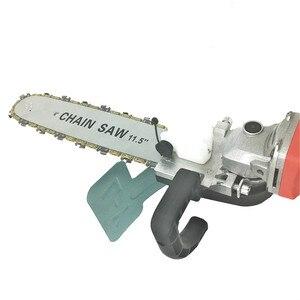 Image 3 - Модернизированный Кронштейн для электрической цепной пилы 11,5 дюйма, регулируемая универсальная цепная пила M10/M14/M16, угловая шлифовальная машина для цепной пилы