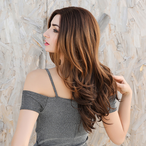 Image 3 - EASIHAIR Brown Lace Front Synthetic Wigs with Baby Hair Wavy Lace Wigs for Women High Density Natural Hair Cosplay Wigs
