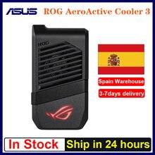 Em estoque rog aeroactive cooler 3/5 para asus rog telefone 3 rog 5 smartphone ventilador de refrigeração titular jogos anti-calor adaptador rog telefone 3