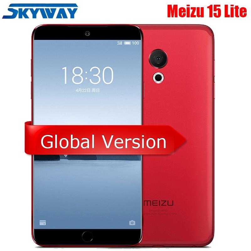 "Original Meizu 15 Lite M15 4GB RAM 32GB ROM Snapdragon 626 Octa Core 5.46"" 1920x1080P 20MP Fingerprint ID Fast Charger CellPhone"
