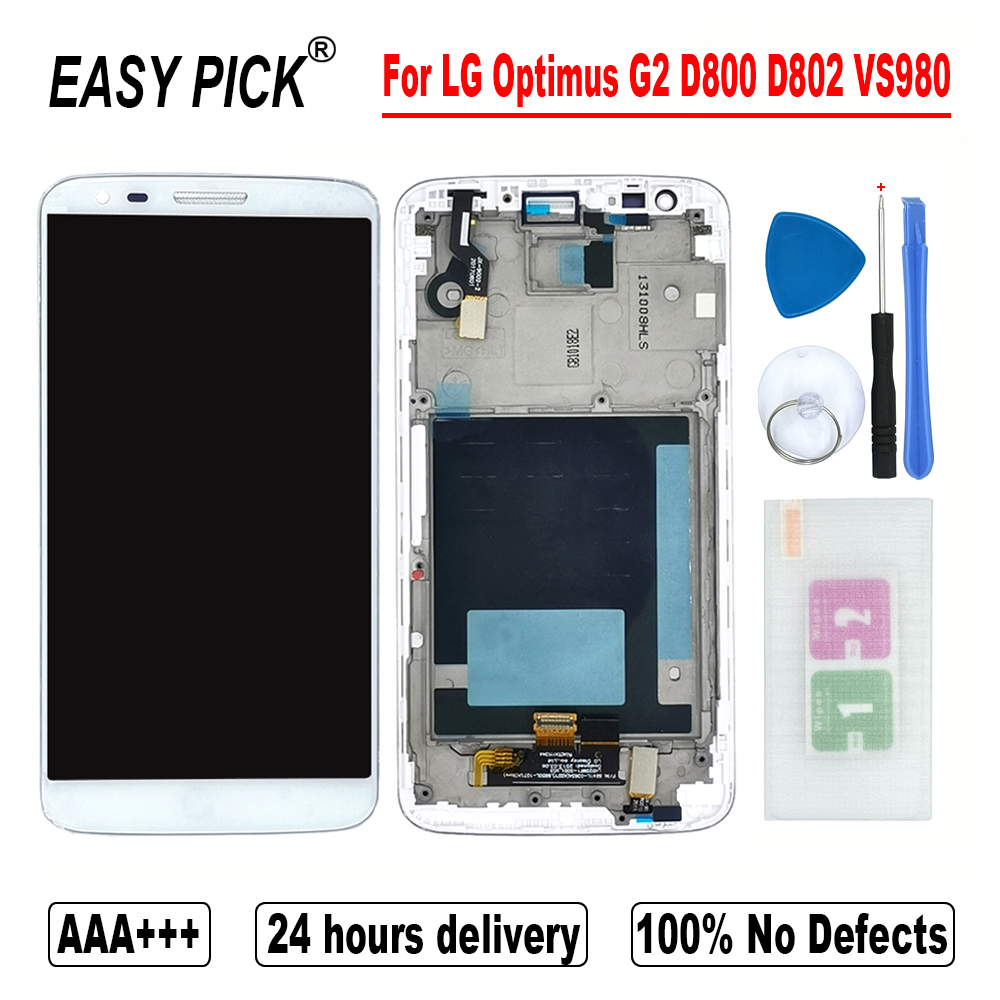 AAA++ LCD Display Touch Screen Digitize Assembly For LG Optimus G2 D800 D801 D802 D803 D806 LS980 VS980 F320L F320S