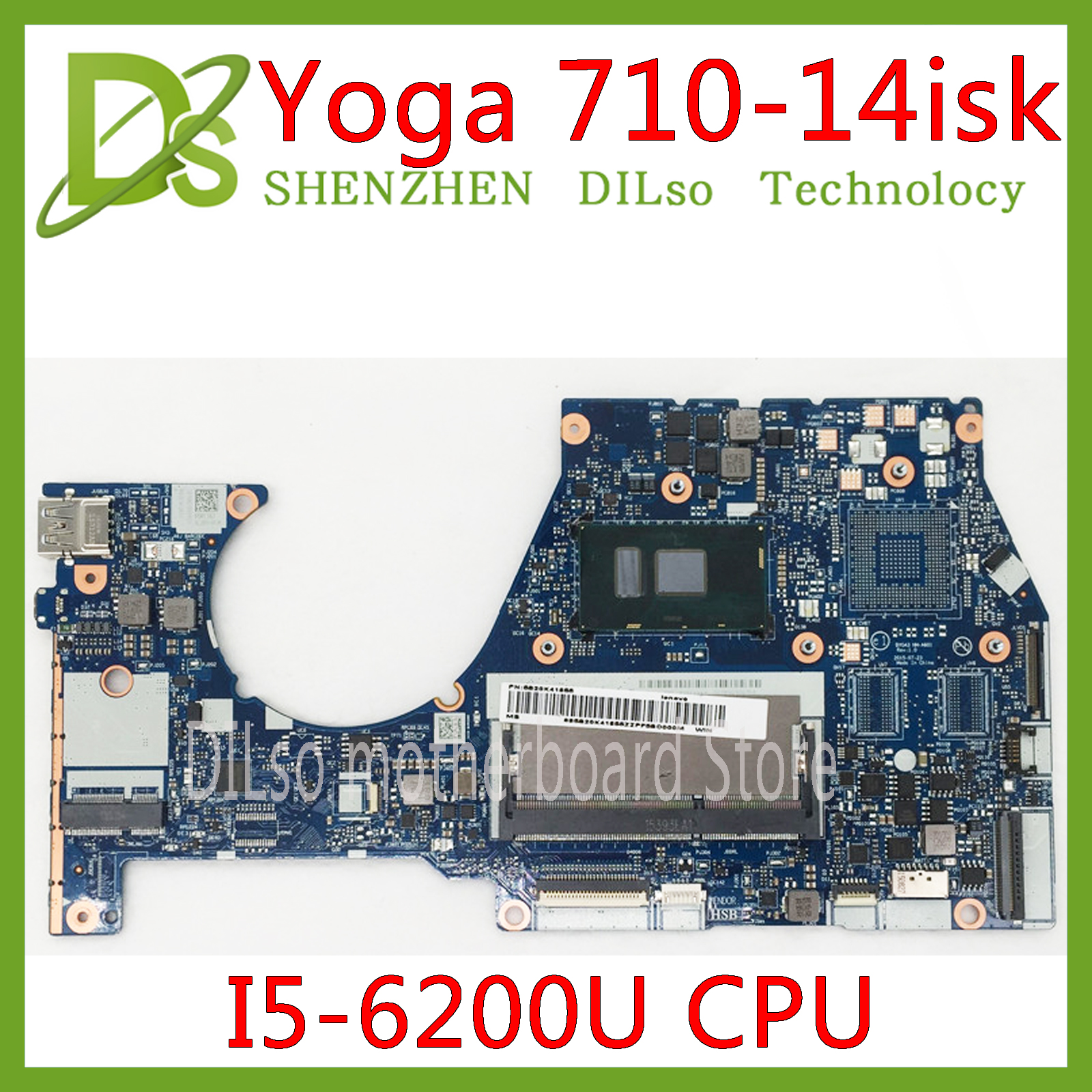 KEFU NM-A601 Lenovo Yoga 700-14ISK Laptop Motherboard With I5-6200U CPU FRU:5B20K41654 Original 100% Tested