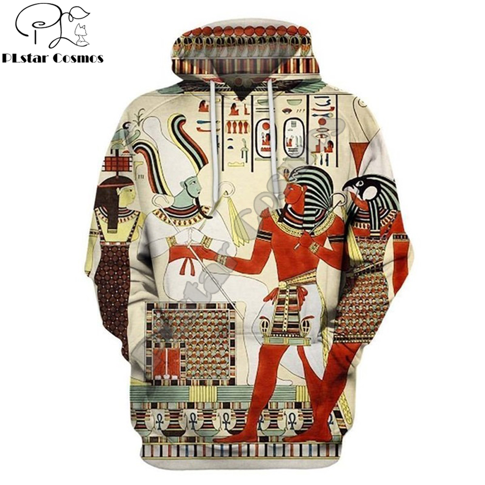 Ancient Egypt Men Hoodie Horus Egyptian God 3d Printed Harajuku Fashion Hooded Sweatshirt Street Jacket Unisex Hoodies